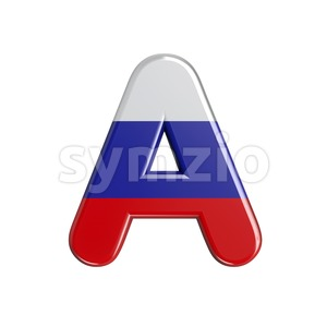 Russia letter A - Capital 3d character Stock Photo