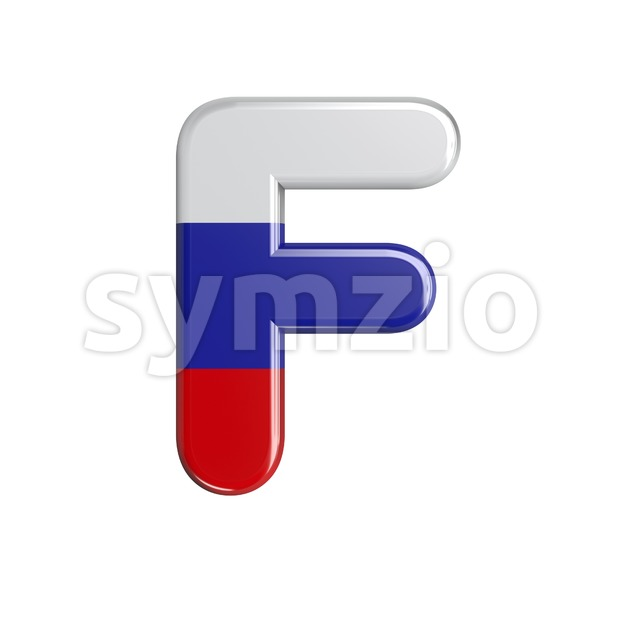 Russia letter F - Upper-case 3d font Stock Photo