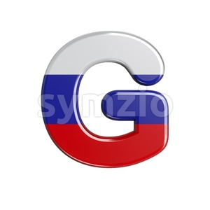 Upper-case Russia character G - Capital 3d font Stock Photo