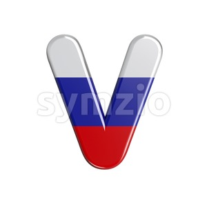 Capital Russia letter V - Upper-case 3d character Stock Photo
