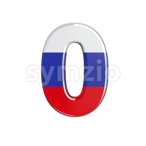 Russian number 0 - 3d digit Stock Photo