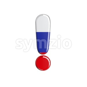 Russian exclamation point - 3d symbol Stock Photo