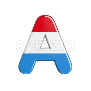 Luxembourg letter A - Capital 3d character Stock Photo