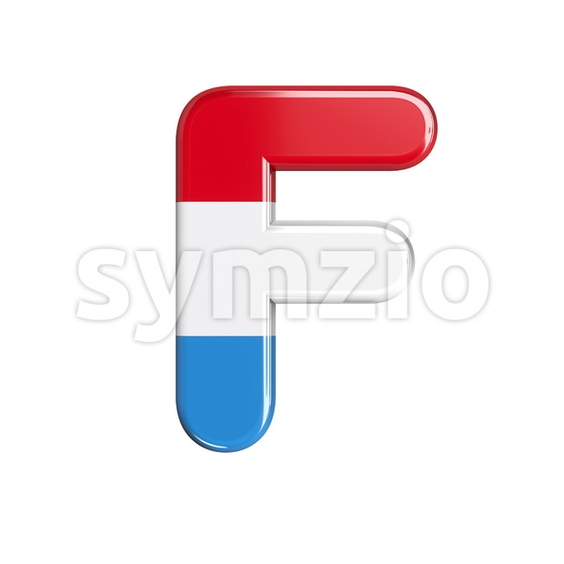 Luxembourg letter F