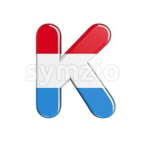 Uppercase Luxembourg letter K - Capital 3d font Stock Photo
