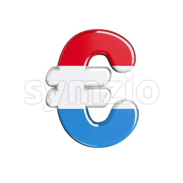 Luxembourg euro currency sign - 3d business symbol Stock Photo