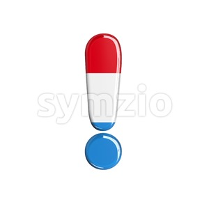 Luxembourg exclamation point - 3d symbol Stock Photo