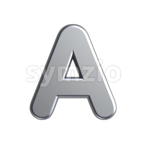 metal letter A - Capital 3d character Stock Photo