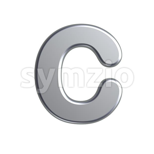 3d metal font C - Capital 3d letter Stock Photo