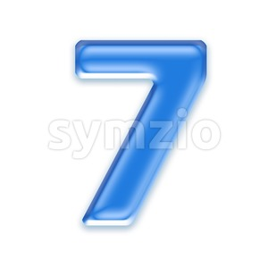 blue jelly number 7 - 3d digit Stock Photo