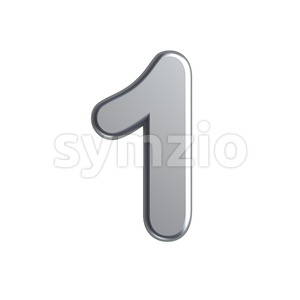 metal number 1 - 3d digit Stock Photo