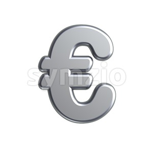metal euro currency sign - 3d business symbol Stock Photo