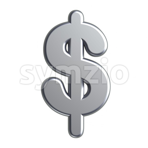 metal dollar currency sign - 3d money symbol Stock Photo