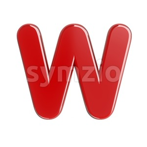glossy font W - Capital 3d letter Stock Photo