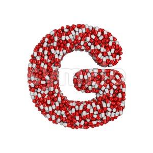 Upper-case pills character G - Capital 3d font Stock Photo
