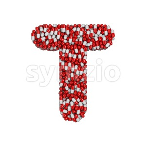 pharmacy character T - Uppercase 3d letter Stock Photo
