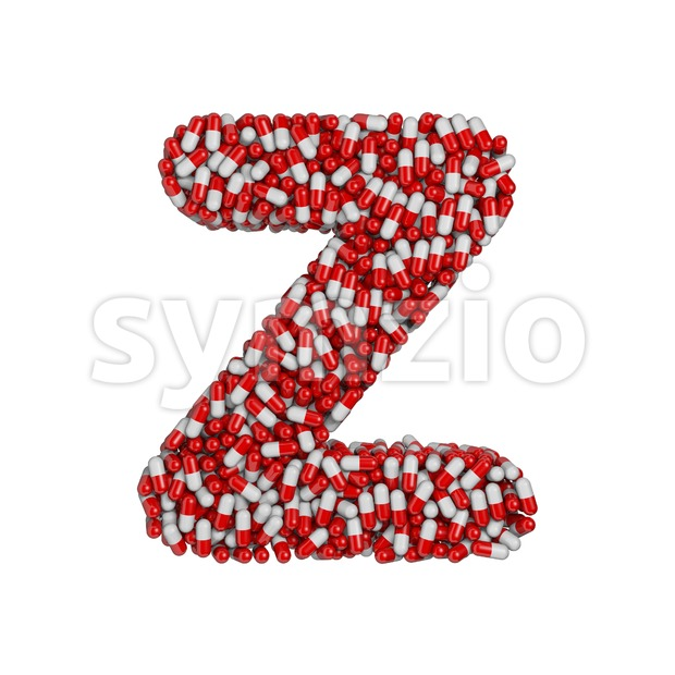 pharmaceutical letter Z - Upper-case 3d font Stock Photo