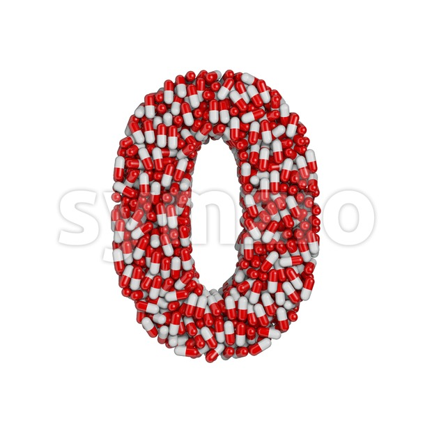 pills number 0 - 3d digit Stock Photo