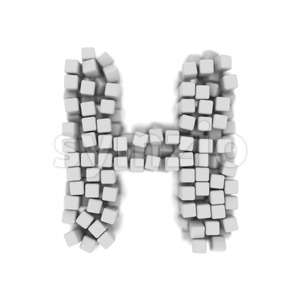 cube 3d letter H - Upper-case 3d character Stock Photo