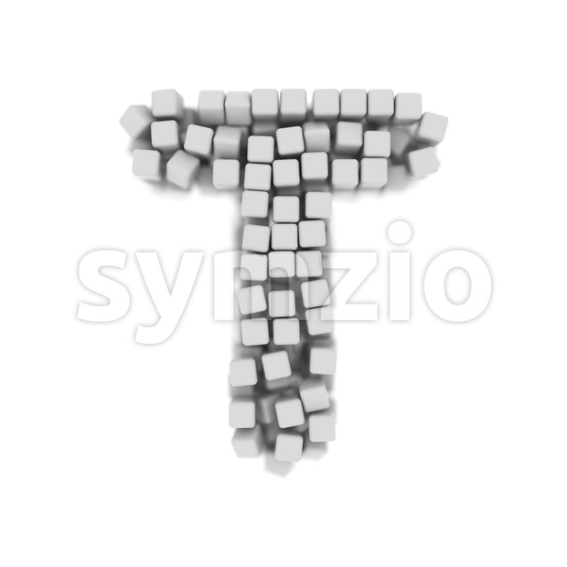 futuristic character T - Uppercase 3d letter Stock Photo