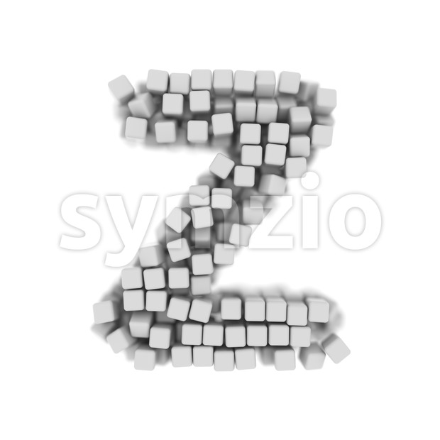 3d cube letter Z - Upper-case 3d font Stock Photo