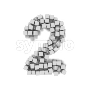 cube digit 2 - 3d number Stock Photo