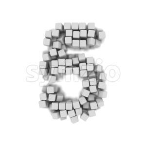 cube number 5 - 3d digit Stock Photo