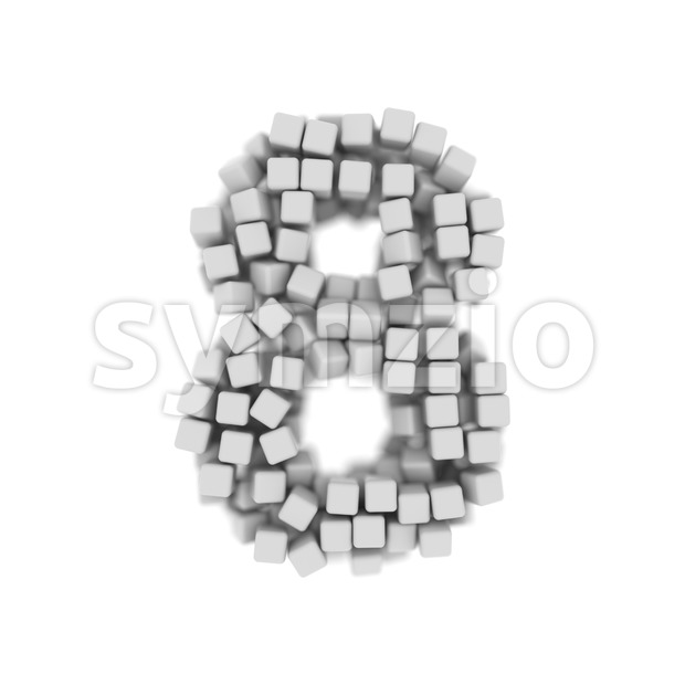 cube digit 8 - 3d number Stock Photo