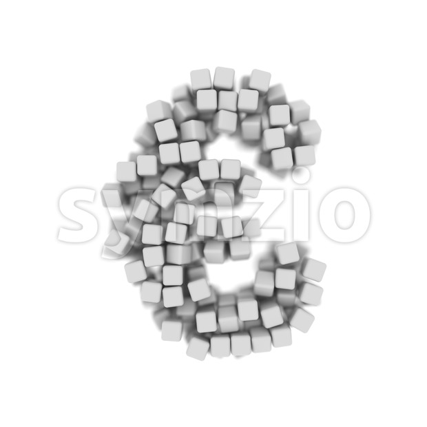 cube euro currency sign - 3d business symbol Stock Photo