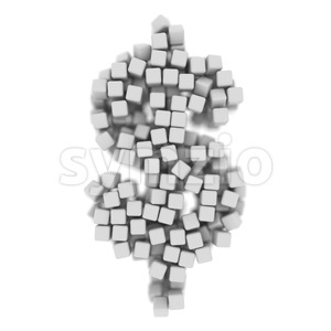 cube dollar currency sign - 3d money symbol Stock Photo