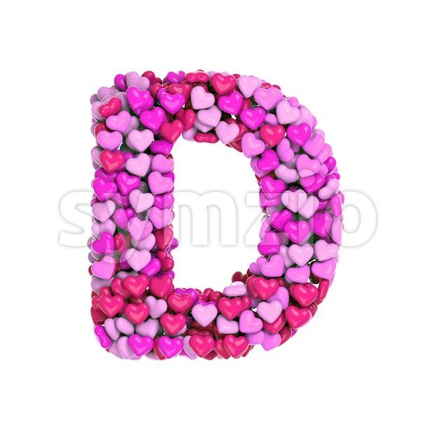 love font D - Capital 3d character Stock Photo