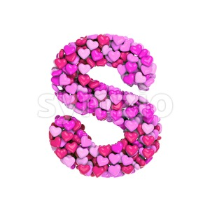 Pink font S - Uppercase 3d letter Stock Photo