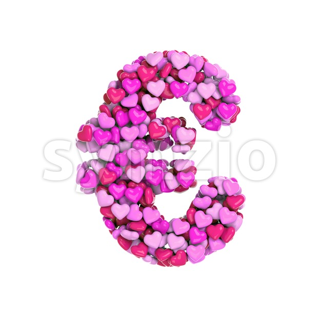 Valentine euro currency sign