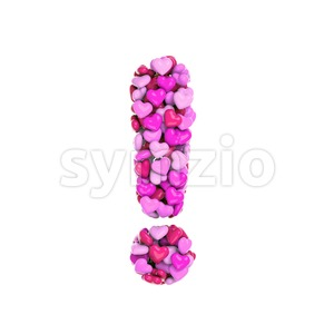 Valentine exclamation point - 3d symbol Stock Photo