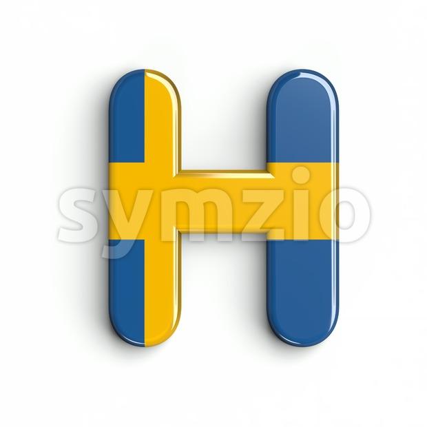 Sweden 3d letter H
