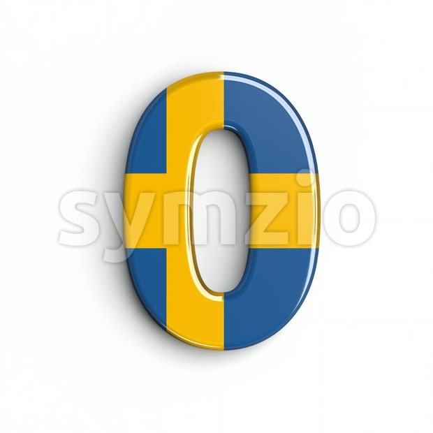 sweden number 0 - 3d digit Stock Photo