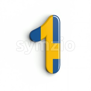 sweden number 1 - 3d digit Stock Photo