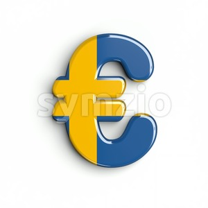 sweden euro currency sign - 3d business symbol Stock Photo