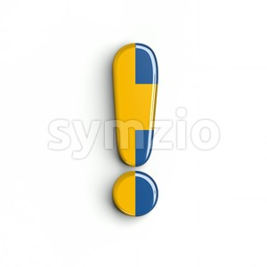 sweden exclamation point - 3d symbol Stock Photo