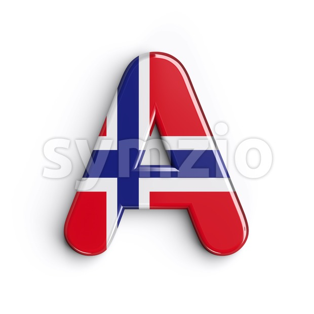Norway letter A - Capital 3d character Stock Photo