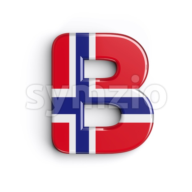 Capital Norway national flag letter B