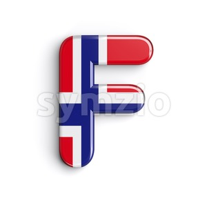 Norway letter F - Upper-case 3d font Stock Photo
