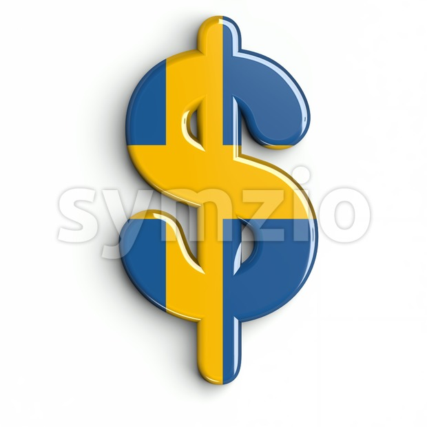 sweden dollar currency sign - 3d money symbol Stock Photo