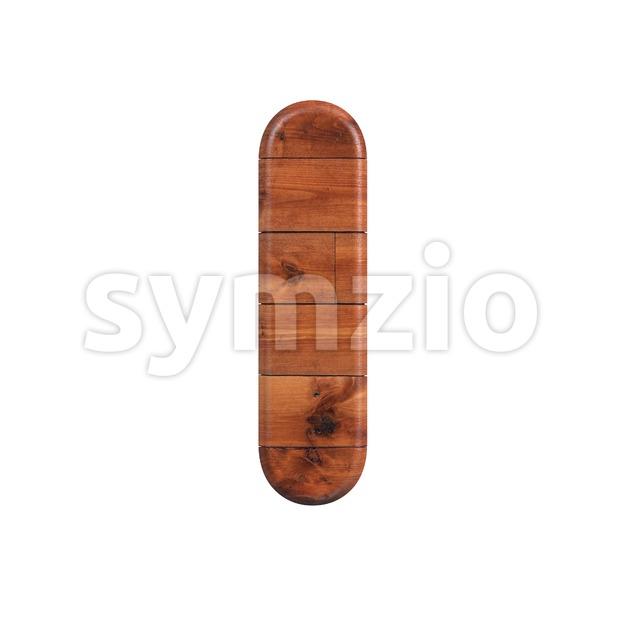 Uppercase wood font I