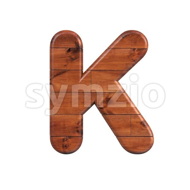 Uppercase wooden letter K