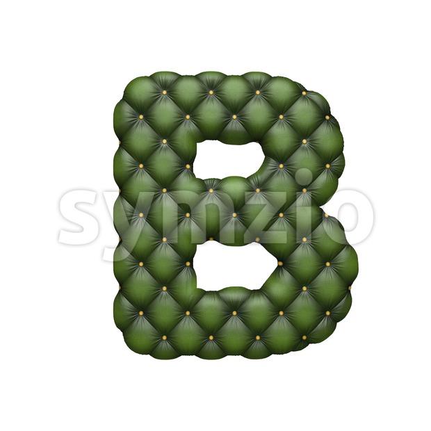 Capital divan letter B - Upper-case 3d font Stock Photo