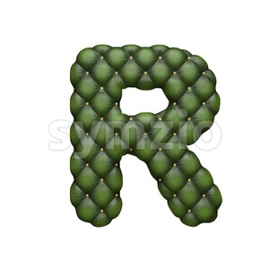 Chesterfield letter R - Uppercase 3d font Stock Photo