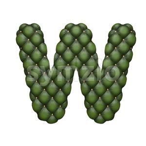 divan font W - Capital 3d letter Stock Photo