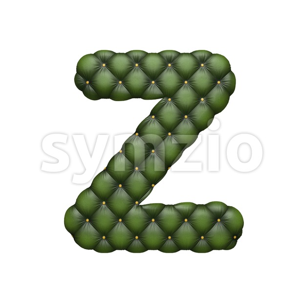 Chesterfield letter Z - Upper-case 3d font Stock Photo