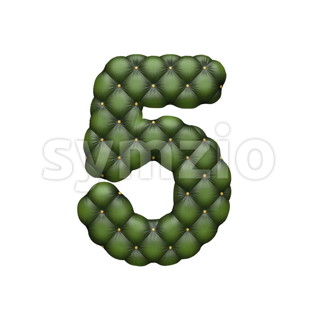 chesterfield number 5 - 3d digit Stock Photo